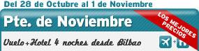 Puente de Noviembre, Vuelo + Hotel desde BIO